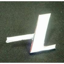 Emblema L Capo Traseiro Fusca De Metal Cromado Parafusado