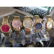 Lindo Relógio Feminino Banhado A Ouro 18 K