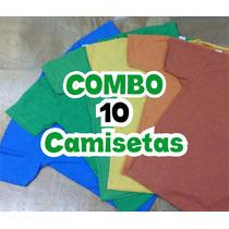 Combo 10 Camisetas Ponta De Estoque
