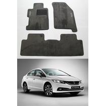 Tapete Carpete Personalizado Honda Civic 2012 2013 2014 2015