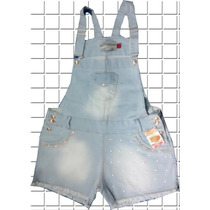 Jardineira Short Plus Size **tamanhos 48 Ao 54**