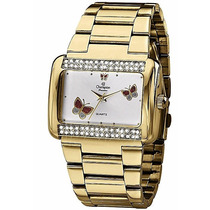 Relógio Champion Feminino Quadrado 30m Ch24179h C/ Pedras --
