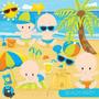 Kit Scrapbook Digital Praia Surf Hawaii Imagens Cod 10