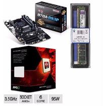 Kit Gigabyte Ga-970a-ds3p + Fx-6300 Amd 6 Core + 8gb 1600mhz