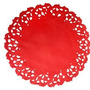 Toalha Rendada Papel Mago Doilies 11cm Vermelha C/50 Unids