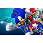 Painel Banner Aniversario Infantil Fundo Mesa Sonic