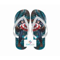 Chinelo Personalizado Super Herói Vários Temas - P28