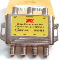 Chave Comutadora 3x4 - Diplexer - Divisor 20pçs Frete Grátis