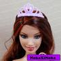 Coroa Princesa Para Boneca Barbie * Disney Mattel * Rosa