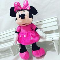 Boneco Pelucia Da Minnie Rosa Disney 28cm + Brinde