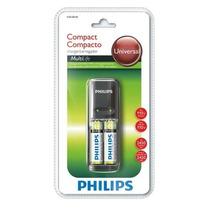 Carregador + 2 Pilhas Philips Aa 2450mah Scb1285nb/78 110v