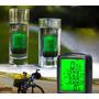 Velocímetro Bike 24 Funções Luz Noturna Prova D`agua Com Fio