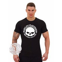 Camiseta Harley Davidson Skull - Moto Frete Gratis!
