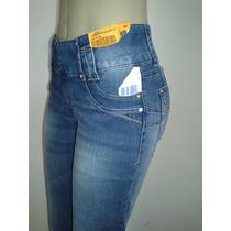 Linda Calça Feminina Sawary Leg Jeans Azul Skinny