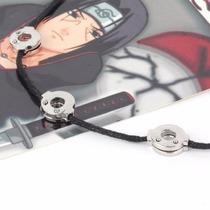 Colar Itachi Uchiha Akatsuki Cordão Naruto Acessório Cosplay