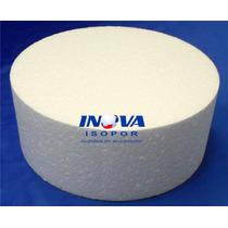 Base De Isopor Para Bolo Falso 45cm(diâmetro) X 10cm(altura)