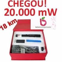 Caneta Laser Pointer Verde 20000mw 15km Reais Kit Completo