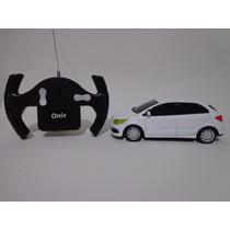 Carro Controle Remoto Chevrolet Onix Branco 1/24 Cks