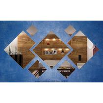 Kit 7 Espelhos Decorativo Espelho Quadrado Cantos Cortados