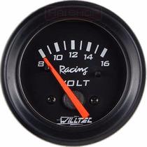 Voltímetro Willtec 52mm Carga Bateria 8-16v Led Painel Carro