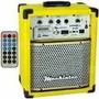 Caixa Multi Uso Mackintec Uz X150 Usb Sd Card Fm 15w Amarelo
