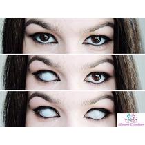 Olhos Cosplay - Lens Branca Mesh- Pronta Entrega !!
