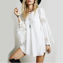 Vestido Em Renda Boho Chic, Gypsy, Ciganinha Pronta Entrega!
