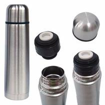 Garrafa Térmica Inox 1 Litro Inquebrável - Café Chá Agua