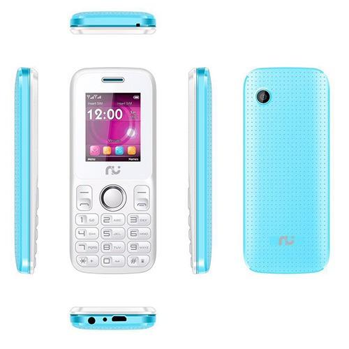 Celular Riu 1, Desbloqueado Branco E Azul, 2 Chips, Radio