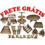 Kit Festa Aniversário Mesa Infantil Mdf Frete Grátis