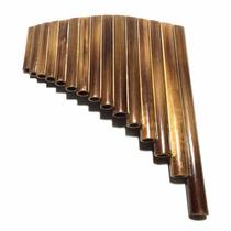 Flauta Pan 15 Tubos Afinada Em G (sol Maior) Em Bambu+ Capa