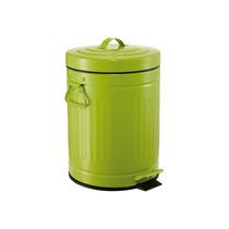 Lixeira Retro Vintage Verde 12 Litros Cozinha Banheiro Ferro