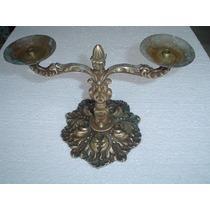 Castiçal Candelabro Antigo Em Bronze Decorações