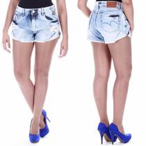 Sawary Short Jeans Boyfriend Cintura Média Sabrina Sato Pink