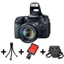 Camera Canon Eos 70d+lente 18-135mm+32gb+bolsa+tripé