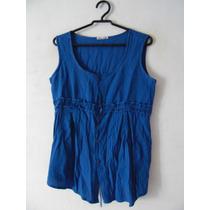 Blusa Feminina Azul Detalhe Fita Cód. 1080