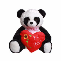 Urso Panda De Pelucia Gigante Com Coração Namorados