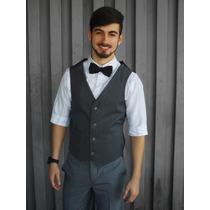 Colete Social Oxford Preto Masculino Promoção