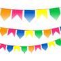 Bandeirinha Festa Junina Plástica 10 Metros Pronta Para Usar