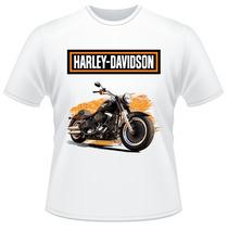 Camiseta Moto Harley Davidson Motor Cycles Softail Fat Boy