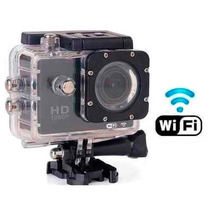 Camera Filmadora Action Hd 1080p Capacete Microfone Wifi