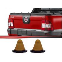 2 Batente Suspensao Traseira (feixe Molas) Fiat Strada 08...