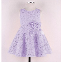 Vestido Infantil Festa Renda Broche Pronta Entrega Criança