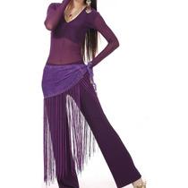 Conjunto Calça+blusa+cinto - Dança Do Ventre