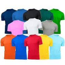 Kit Com 5 Peças Camisetas 100% Algodão Para Sublimação
