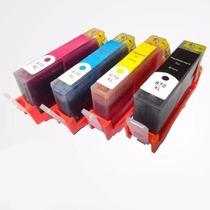 Kit 04 Cartuchos De Tinta Compatível Com Hp 670xl Bcym Cz118