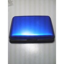 Carteira De Metal Com Porta Cartões De Crédito Cor Azul