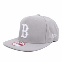 Boné Original Fit Boston Red Sox Snapback Cinza Aba Reta