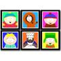 Kit 6 Quadros South Park Arte Decoracao Desenho Decorativo