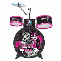 Bateria Monster High Com Banquinho Infantil - Fun Divirta Se